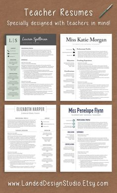 Teacher Resume Template Teacher Resume Template With Photo For Ms Word   Educator Resume