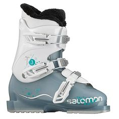 Salomon T3 Girlie RT Ski Boots Cold Sea   White Girl s 22   Read more at a685ebcf9