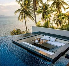 pool sunken lounge