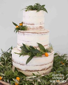 "Exclusive: Louise Roe and Mackenzie Hunkin's Wedding Photos! | Martha Stewart Weddings - ""I was obsessed with kumquats,"" jokes Louise about the orange fruit, which adorned the cake and reception tables."