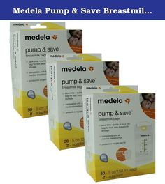 Medela Pump & Save Breastmilk Bags 50 count - 5oz/150ml bags - 2 adapters(Quantity of 3). For collection, storage and freezing of breastmilk Compatible with all Medela breastpumps for pumping directly into the bag Exclusive self-stick strap attaches directly to breastshield for fast & easy setup Leak-proof, easy-to-close zipper top Special plastic retains breastmilk's beneficial properties Double-walled for long and safe breastmilk storage Pre-Sterilized & disposable Save time by pumping…