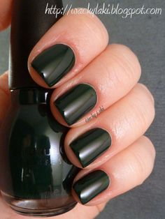 Last Chance is a deep forest green creme.