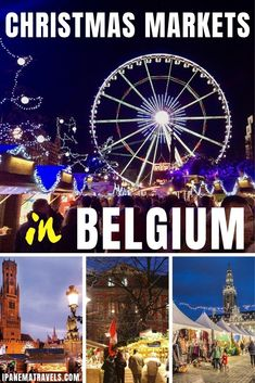 Discover the best Christmas Markets in Belgium with this guide. Includes the best things to do and see at the Belgian Christmas markets in Antwerp Brussels Bruges Leuven and Liège. Christmas Markets Europe, Christmas Travel, Holiday Travel, Places In Europe, Europe Destinations, Christmas Destinations, Usa Travel, Top All Inclusive Resorts, Belgium Europe