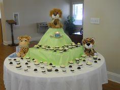 Jungle Safari Baby Shower Cupcake Table