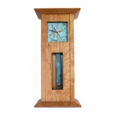 The regal Imperial Deluxe Clock created from sustainable cherry wood and hand-tooled patina copper. Handmade in North Carolina by Sabbath-Day Woods. Sabbath Day, Wood Clocks, Home Decor Items, Wood Art, Bottle Opener, Home Goods, Barware, Woods, Handmade