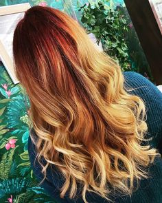 "We are living for this sunset inspired colour melt 😍 from Emilie at our Loughborough salon who said ""I can't wait to get back into the salon and start doing what I do best again.""💥 @blisshairdressing #blissemilie #colourmelt www.blisshair.com/ #wellahair @wellahairuki #longhair #haircolour #besthairdresser #loughborough #sherwood #nottingham"