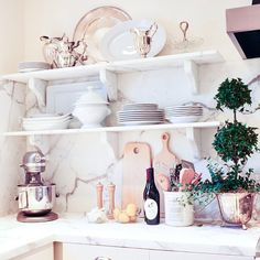 In love with this kitchen display at Williams-Sonoma