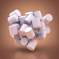 Squishy #cinema4d #c4d #3d #mograph #topcoat #marshmallow #art #render…