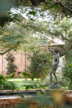 Courtyard Fountain in the New Orleans Garden District
