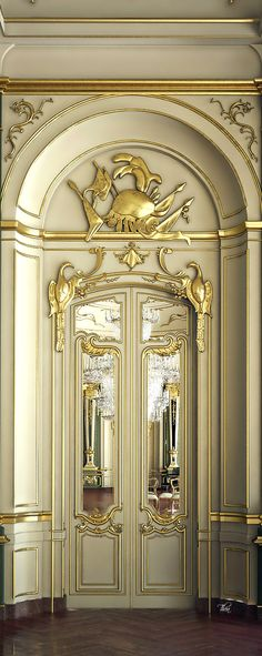 Elegant entryway doors.