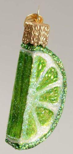 Merck Family's OLD WORLD CHRISTMAS ORNAMENT Lime Slice 10279989