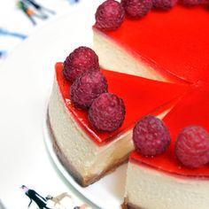 Cheese-cake aux framboises - une recette Dessert - Cuisine