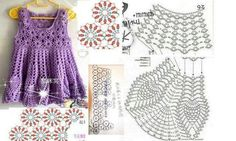 .Little Girl Crochet Dress