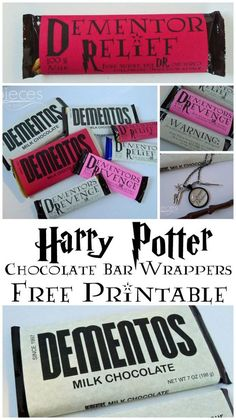 Wrap Up Your Chocolate Bars With These Free Printables For Harry Potter Stocking Stuffers