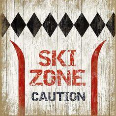 Ski Zone Sign