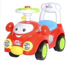 Baby Girl/Boy Red Speedy Ride On Push Car With Music Horn FREE SHIP #Bestrideoncars
