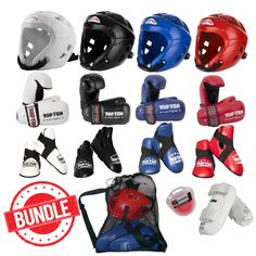 "TOP TEN Pointfighter Sparring Kit - ""BUNDLE"" COMPLETE (PFSK02) - kicksport.com"