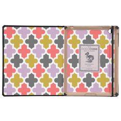 Modern Moroccan Pattern iPad Cases http://www.zazzle.com/modern_moroccan_pattern_ipad_cases-256459715958392034?view=113752204688978657&rf=238194283948490074&tc=pfz #quatrefoil #pattern #modern #geometric #lattice #clover #moroccan #trellis #preppy #cute #classic #girly #graphic #design #shape #lines #CoversforiPad #zazzle