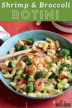 This is a great go-to pasta recipe that you can whip up in a pinch with essentially whatever you have on hand. You can try swapping the shrimp for white beans to turn the lemony seafood pasta into a vibrant vegetarian entrée.   Well Done
