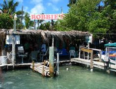 Robbie's Seafood Dive in Keys. great food and fun place to hang!