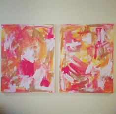 16 x 20 Coral Abstract Painting