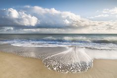 Southbourne beach  in evening just before stormy weather.  by David Baker