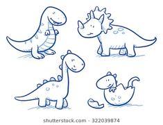 Vektor: Cute little cartoon dinosaur babies for children, hand drawn vector dood. Vektor: Cute little cartoon dinosaur babies for children, hand drawn vector doodle. Dinosaur Drawing, Cartoon Dinosaur, Dinosaur Art, Cute Dinosaur, Cartoon Kids, Cute Cartoon Animals, Baby Cartoon, Sheldon The Tiny Dinosaur, The Good Dinosaur