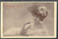 QK127 ARTIST STAGE STAR MONTBRYON Large HAT Tinted PHOTO pc