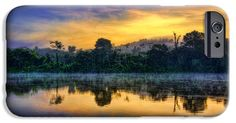 iPhone Cases - Suriname Sunrise iPhone Case by Nadia Sanowar