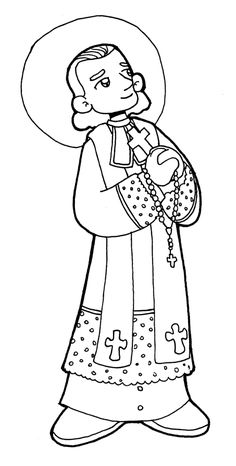 Dibujos para catequesis: SAN JUAN MARÍA VIANNEY, EL CURA DE ARS