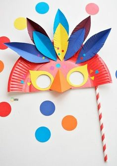 Handicrafts with children for carnival - 55 creative and very simple handicraft ideas- Basteln mit Kindern zu Fasching – 55 kreative und ganz einfache Bastelideen tinkering ideas for carnival tinkering with children - Easy Crafts, Diy And Crafts, Arts And Crafts, Decor Crafts, Simple Crafts For Kids, 5 Year Old Crafts, Summer Crafts, Simple Diy, Kid Crafts