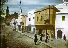 """Tunisie Exhibition: Paris during the Exposition Universelle 1900. """"In 1900 William Henry Goodyear, the son of the inventor of the vulcanization, traveled to Paris with photographer Joseph Hawkes for a visit 6 week dedicated to the Expo.""""  (http://www.laboiteverte.fr/en/paris-pendant-lexposition-universelle-de-1900/)"""