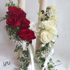 ROSU ... pentru lumanari de nunta :) ! Foto: YaU Concept Wedding Bouquets, Wedding Flowers, Nail Art Hacks, Corsage, Scented Candles, Floral Arrangements, Centerpieces, Floral Wreath, Wedding Decorations