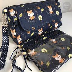 "Necessaire Trapézio + Necessaire Porta Celular. Tecido ""Raposinha"". . . . . #necessaire #pouch #trapézio #tecido #pontoxtecidos #anaCampana #raposinha #fox #blue #costuracriativa #sewing #bykireicraft Cosmetic Bag, Louis Vuitton Monogram, Fashion Backpack, Purses And Bags, Patches, Fox, Pouch, Backpacks, Sewing"
