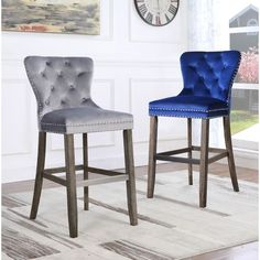Shop Best Quality Furniture Tufted Velvet Barstools (Set of – Overstock – Island Chairs, Bar Chairs, Bar Stools, Dining Chairs, Counter Stools With Backs, Outdoor Dining Chair Cushions, Floor Seating, Accent Chairs For Living Room, Quality Furniture