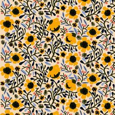 You can't beat the gorgeous limited edition Mykero fabric by Marimekko! The perfect fabric to keep spring in your home all year long 🌻