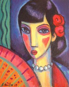 Flamenca, 2009 Acrílico sobre madera, 27x35 cm Guillermo Martí Ceballos