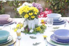 #primavera #villadestehometivoli #newcascina #fiori #idee #decorazione #apparecchiata #piatti #bicchieri #posate