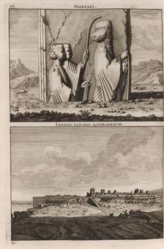 Poortael ; Gezicht van het Agtergebouw - Persepolis - 1704 - Cornelis de Bruijn - New York Public Library - Digital Collections