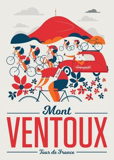 Image of Mont Ventoux / Classic Climbs by Neil Stevens Cycling Art, Road Cycling, Road Bike, Cycling Quotes, Cycling Jerseys, Bicycle Art, Bicycle Design, Bike Poster, Poster Wall