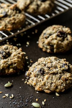 Biscuits multigrains K pour Katrine Real Food Recipes, Cookie Recipes, Cookies Sans Gluten, Multigrain, Cookies Et Biscuits, Bon Appetit, Sweet Tooth, Muffins, Protein