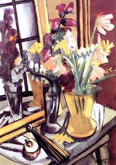 MAX BECKMANN Still Life with Violet Dahlias (1926)