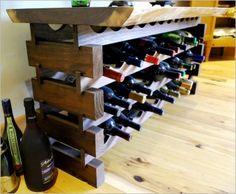 Furniture Idea , 6 DIY Wood Pallet Project – Reclaimed Wood : Wood Pallet Custom Walnut Wine Rack
