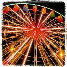 Knoebels Giant Wheel at night (Article about Knoebels Amusement Resort)