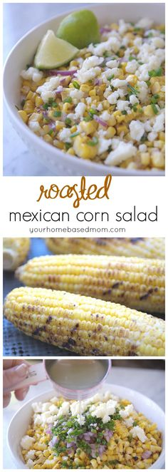 Roasted Mexican Corn Salad - all the flavor of Mexican Street Corn without the mess of eating it.