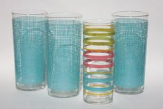 Federal Glass Vintage Drinking Glasses Set of 4 by twonoels, $14.00