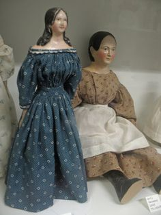Papier Mache Dolls  These date to the early 1840's.