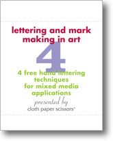 Letter and Mark Making in Art: 4 Free hand lettering techniques for Mixed Media