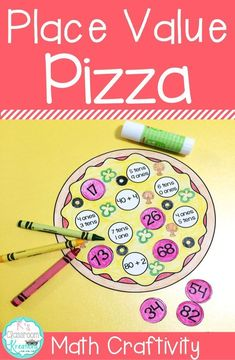 Hungry for place value practice?First graders will love learning about tens and ones with this pizza themed math center and craftivity set! For added fun consider storing pieces in a pizza box.