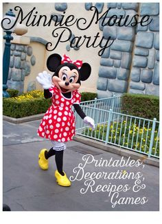 I've included pretty much all the great ideas I could find to create an adorable Minnie Mouse party for your little girl.